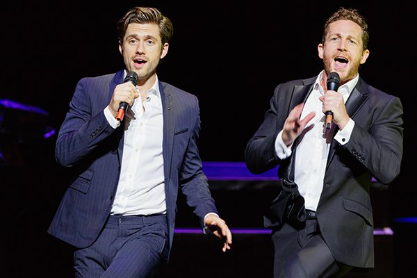 Aaron Tveit and David Harris