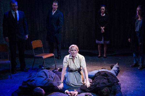 Helen Dallimore and the cast of Blood Brothers